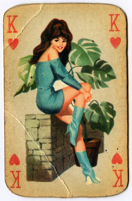 King of Hearts from a rare deck of 1960's Hungarian playing cards via Flickr