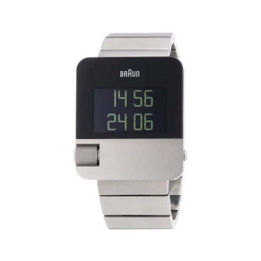 Braun Men's BN0106SLBTG Prestige Digital Digital Display Swiss Quartz Silver Watch