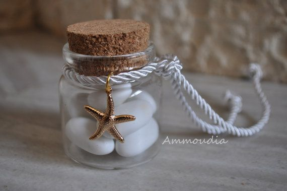 Beach wedding bonboniere favor-bottled  favor-wedding by AMMOUDIA