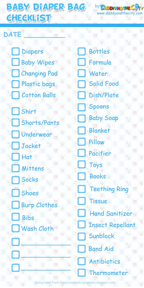 Baby Diaper Bag Checklist! Visit us at:  http://www.coolgelncap.com