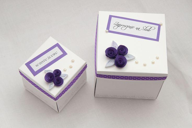 kartka pudełko na zamówienie, kartki na ślub, zaproszenia ślubne