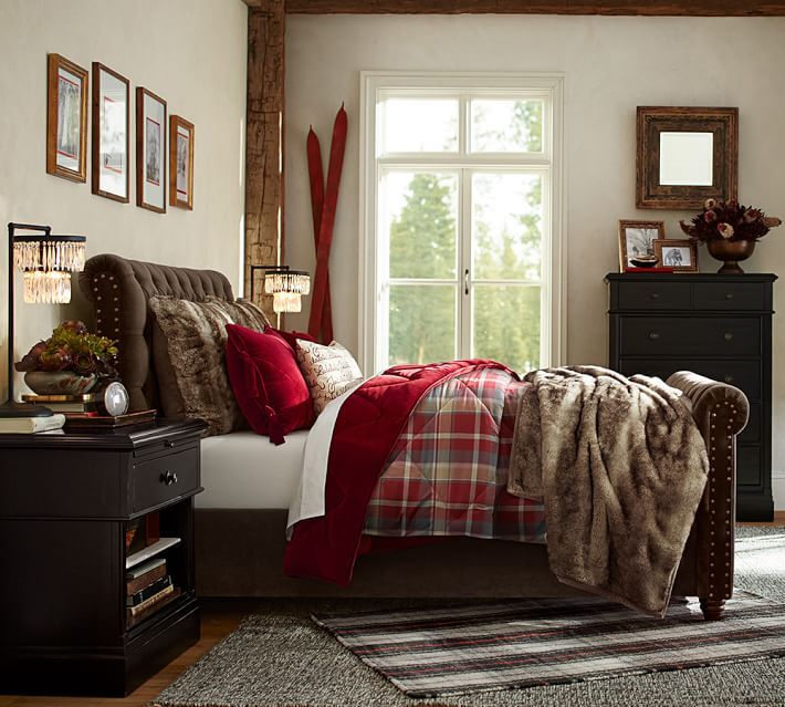 137 best images about bedding ideas on pinterest sheet sets cabin and lady antebellum - Pottery barn holiday bedding ...