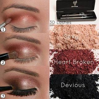 A perfect color combo for any eye color.... Our Younique Mineral Pigments will make your eyes POP. GO to www.fullerlash.com to get yours!