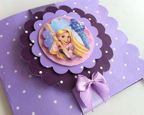 Convite scrap Rapunzel/ Enrolados