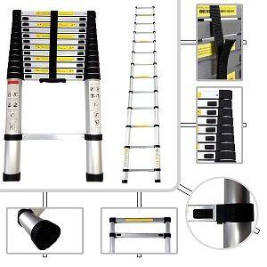 Comprar escalera telescópica de aluminio barata