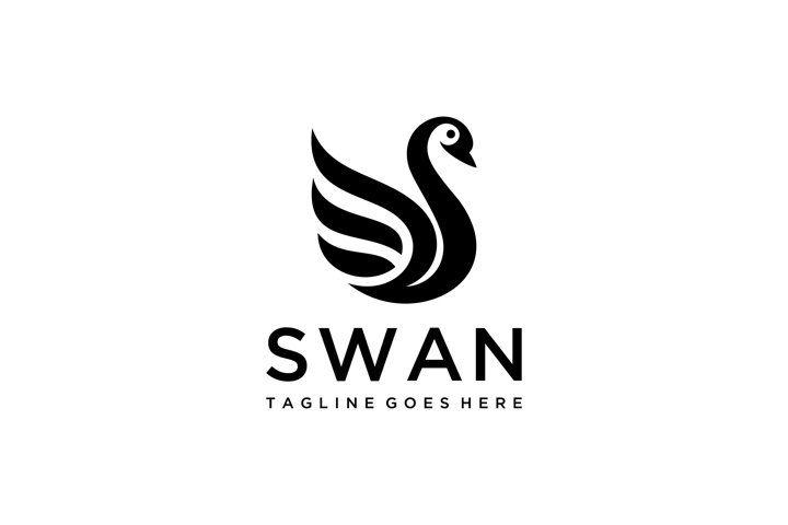 Swan Logo 755968 Logos Design Bundles In 2021 Swan Logo Logo Design Swan