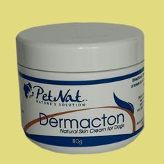 Petnat DERMACTON, steroid-free natural anti-itch cream for all skin irritations and itchy dogs. Quickly calms itchy irritated skin and stops dogs itching, licking and scratching 100% ALL Natural ingredients.