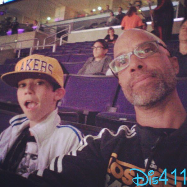 Photo: Cameron Boyce And His Dad At The Lakers Game January 27, 2013