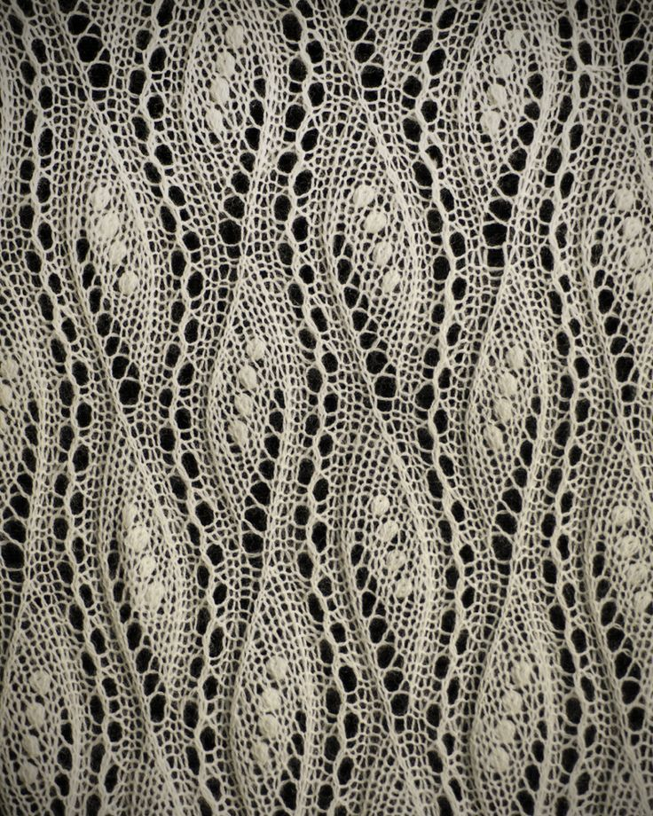 Knitted Lace from Estonia.On display in a museum in the US. Most displayed are delicate shawls that feature the nupp, a small knot of yarn that can't be made by machine ensuring the pieces are hand made. [I never knew that!] No pattern available on this one but it would be wonderful to be able to recreate.
