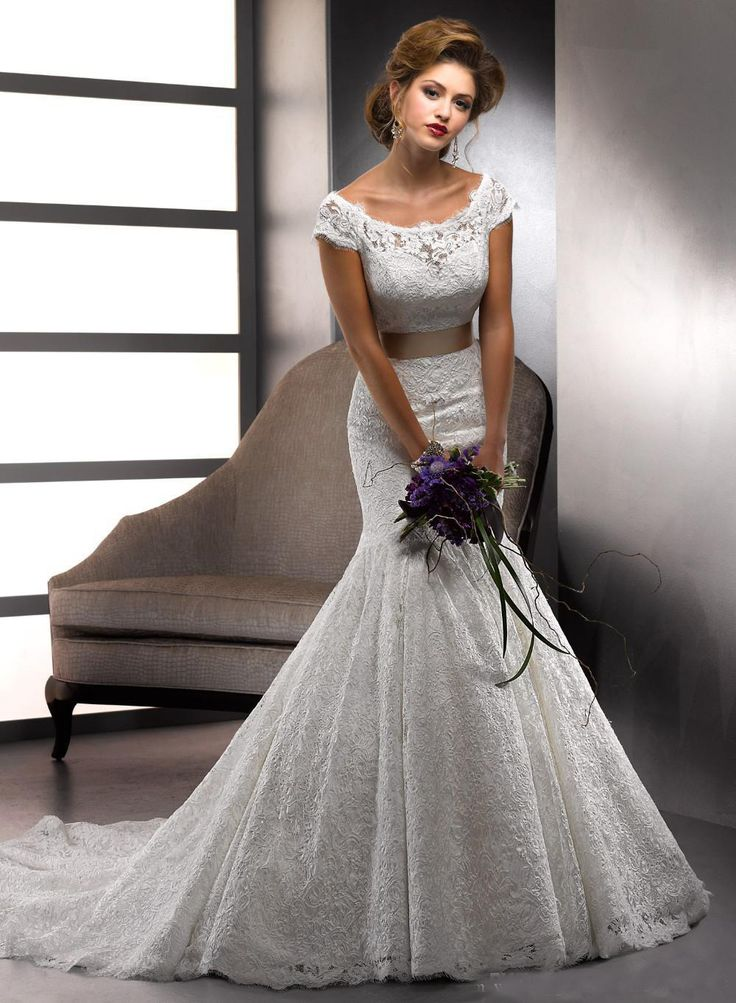 2015 Vestido Novias Vintage Ivory Lace Alibaba Wedding Dresses Mermaid With Sash Ribbons Bridal Gowns