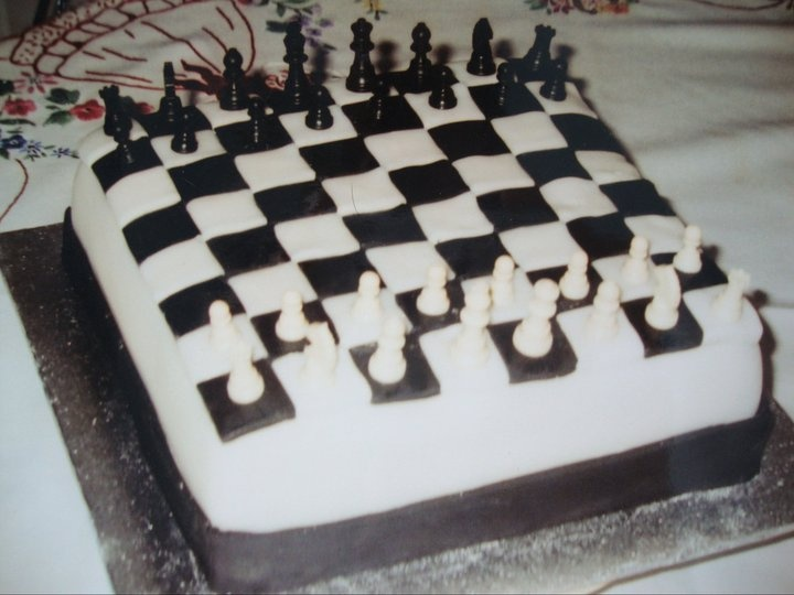 Chess cake I made for my daughter