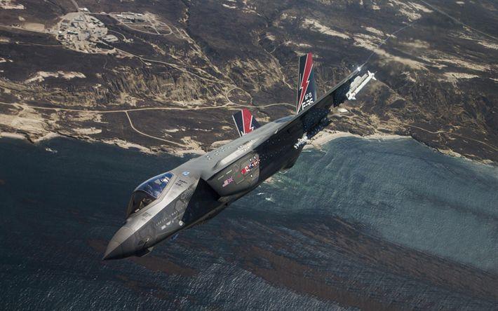 Lataa kuva Lockheed Martin F-35 Lightning II, F-35, Combat fighter, US Air Force, sotilaslentokoneiden, USA