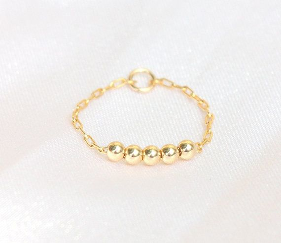 Thin Gold  Ring   14K Rose Gold fill stacking ring / by JulJewelry