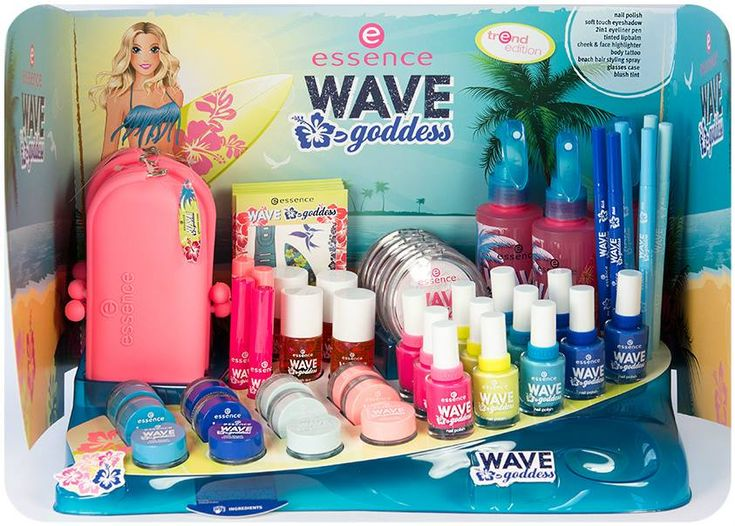 "surfer-girls and beach-beauties take note! our new trend edition ""wave goddess"" is available in stores now. whether you prefer sunbathing on the beach or heading to the waves, this trend edition is sure to offer the ideal products for sun & sea.  which beauty pieces will you go for?  #essence #surfing #beach #summer #cosmetics"