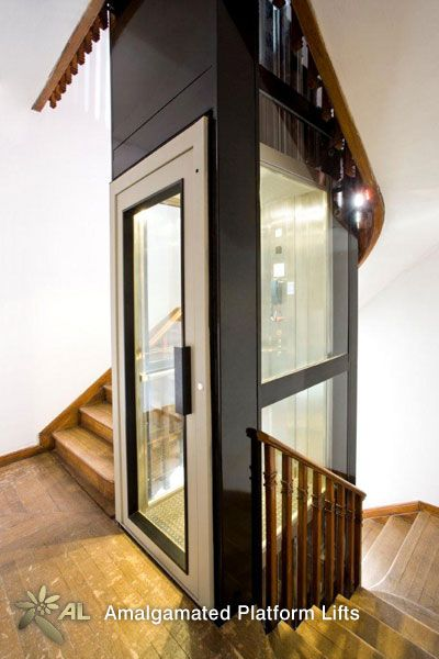 Best Residential Lift Part Glazed Inside Stair Case Ideas In 2019 House Lift House Elevation 400 x 300