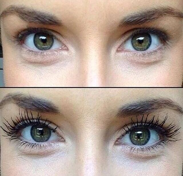 Before & After 3D Fiber Lash Mascara!!! I just love this stuff!!!! www.youniqueproducts.com/PamKey