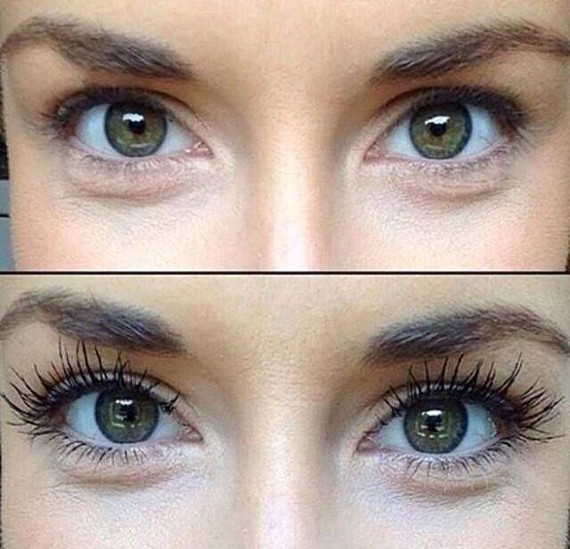 Before & After 3D Fiber Lash Mascara!!! I just love this stuff!!!! www.youniqueproducts.com/PamKey