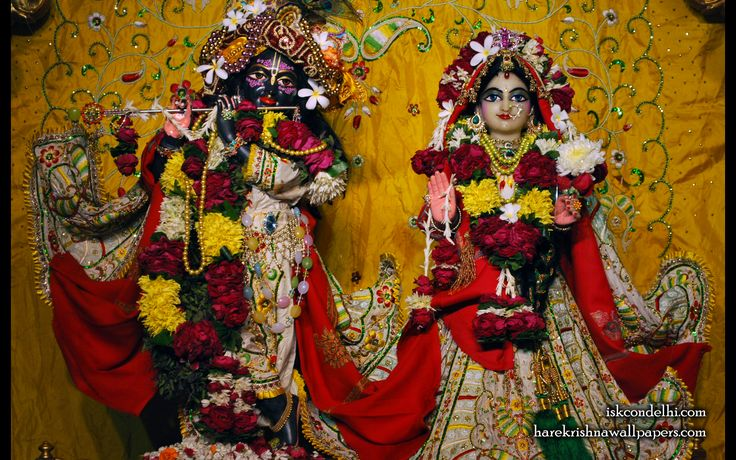 To view Radha Parthasarathi Wallpaper of ISKCON Dellhi in difference sizes visit - http://harekrishnawallpapers.com/sri-sri-radha-parthasarathi-iskcon-delhi-wallpaper-004/