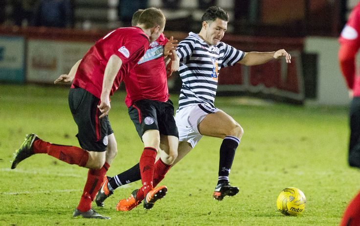 Queen's Park's Kalvin Orsi in action during the Ladbrokes League One game between Brechin City and Queen's Park.