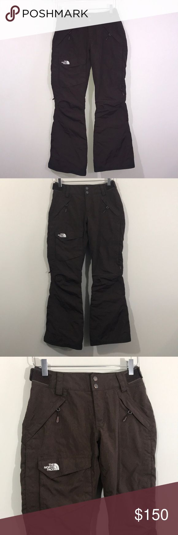 The North Face Women's Freedom Lrbc Insulated Pant • Waterproof, breathable, fully seam sealed HyVent fabric on the exterior, coupled with thermal Heatseeker Eco insulation for optimal warmth • Low-rise boot cut is the most flared style available, with a neutral fit around the waist, and athletic fit around the knees with a flared bottom • Cargo pocket at right thigh bellows outward while Chimney Venting system zip at sides of thighs works to promote airflow. • Waterproof, breathable, fully…