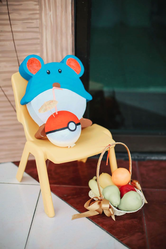 Pokemon decor from a Pokemon Beach Birthday Party on Kara's Party Ideas | KarasPartyIdeas.com (26)