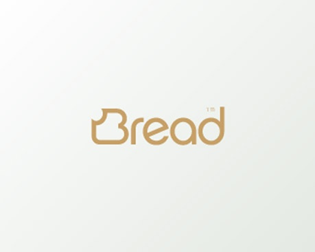 Bread: the B is turned into a slice of bread and font is a brown colour to enhance the idea.