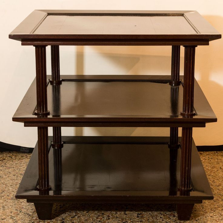 Barbara Barry For BAKER 3 Tier Mahogany End Table   Two Available   See  More At