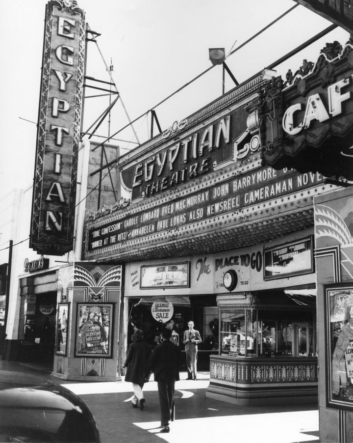 Grauman's Egyptian Theater on Hollywood Boulevard (1938)