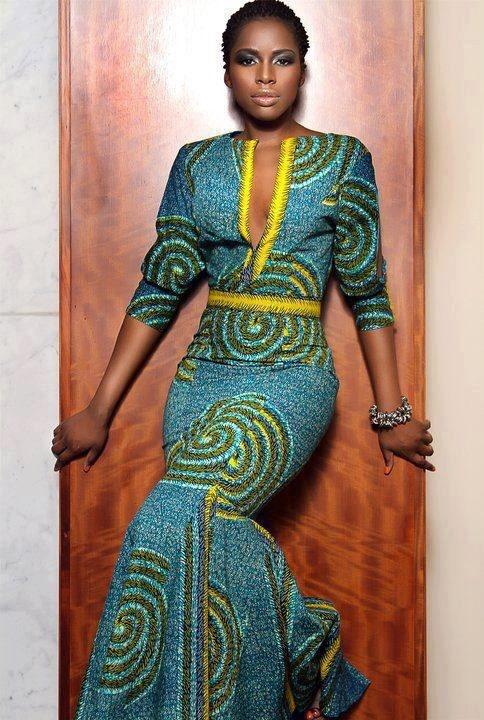 mermaid styled mid sleeve dress