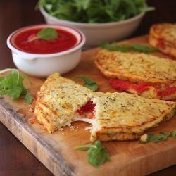 Ketogenic Diet Recipes - Cauliflower Crust Calzone recipe #ketogenicdiet #lowcarbs #lchf