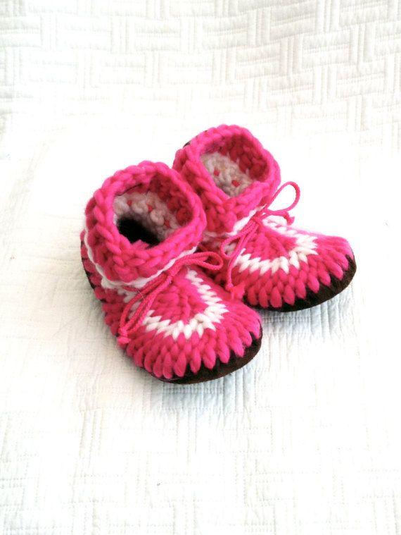 Crochet Kids Slippers, Style: Ballerina Slippers for Girls, Knitted Slippers for Girls, Kid's Booties, House shoes for girls