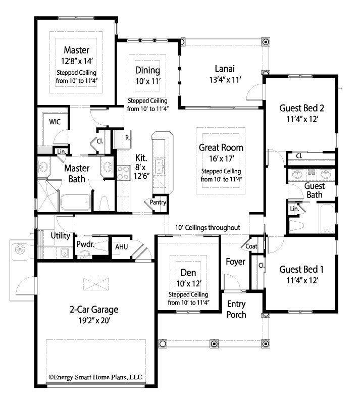 Floor Plans 3 Bedroom Energy Efficient House Plans Country Style House Plans House Floor Plans