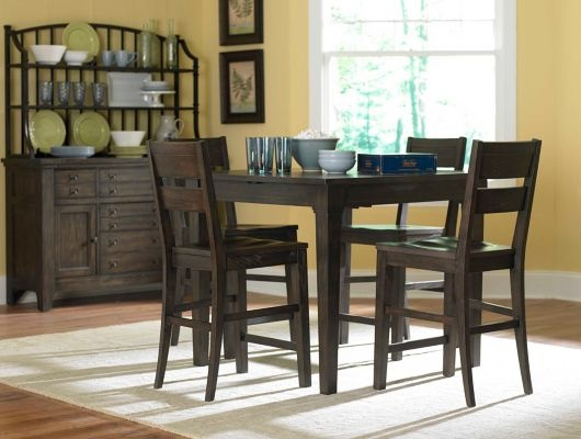 Casual dining has its place. the Attic Retreat Counter Table has rustic styling and a butterfly leaf expands the seating options.