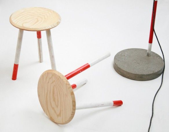 Retro, vintage reclaimed wooden Milk Stools - Designer children's stools by Forge Creative for Money For Nothing furniture show on BBC1 all about up up cycling furniture from the skip, now available to buy from Smithers of Stamford