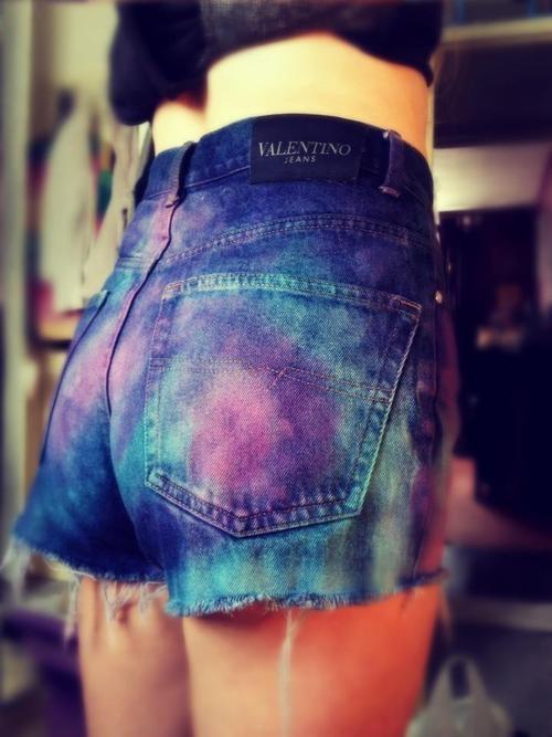 grunge galaxia shorts
