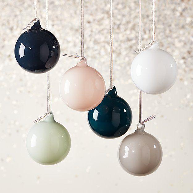 Opaque Ornaments Set Of 6 Modern Christmas Ornaments Minimalist Holiday Decor Minimalist Christmas Decor