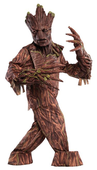 Groot Creature Reacher Super Deluxe Guardians of the Galaxy Costume - 'I am Groot.' The creature of few words from Marvel's Guardians of the Galaxy comes to life with this amazing Groot Creature Reacher costume. Comes with natural latex mask. oversized hands, shirt and pants with attached boot covers. Impress at your next event with this fantastic costume. Perfect for Halloween and comic con. #YYC #Calgary #costume #Groot #GOTG