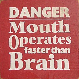 That's my excuse, but the truth is that I let my mouth operate just as fast as my brain, because Fuck You.