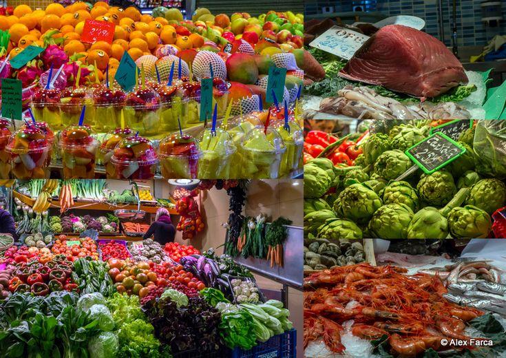 Barcelona - culorile din piete