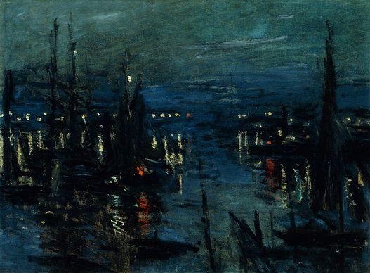 Claude Monet - Port du Havre, effet de nuit 1873