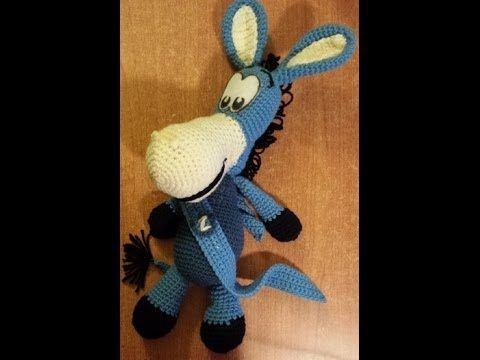 Pupazzo Asinello Uncinetto - Mascotte del Napoli amigurumi- Parte 1 di 2- tutorial crochet - YouTube