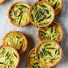 Try the Asparagus Quiches with Mint by April Bloomfield  Recipe on williams-sonoma.com/