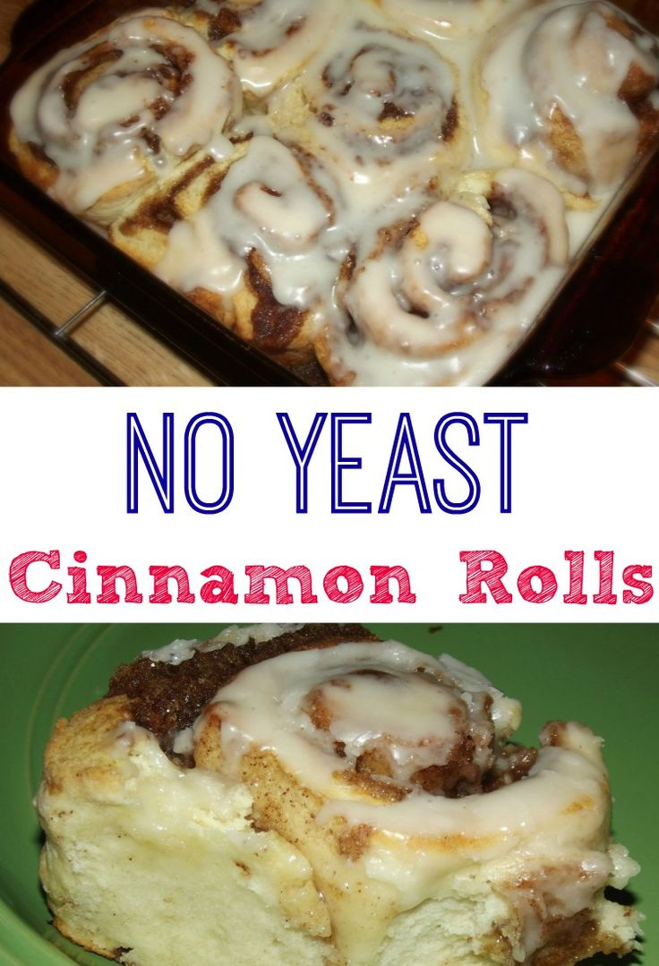 Easy No Yeast Cinnamon Rolls that don't need to rise! Quick and Delicious!!! TRY today!