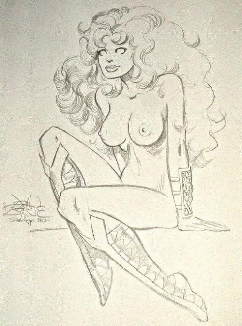 Starfire sketch by John Byrne. 1982. | John Byrne Draws...