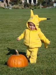 pikachu baby costume...maybe I can dress up zach and Sophia as Pokemon next year :)