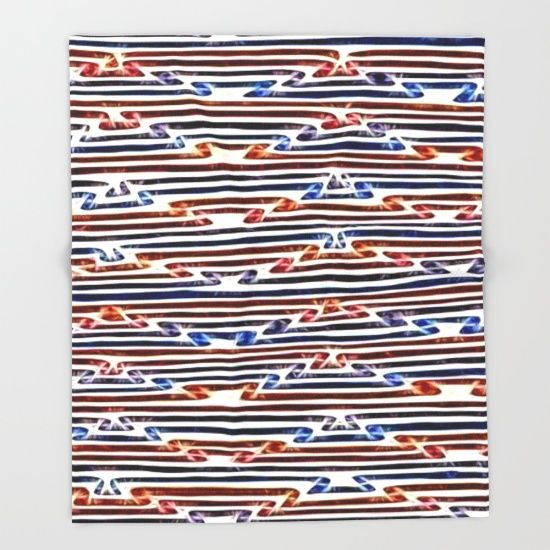 Energetic, electrifying abstract line art pattern Throw Blanket