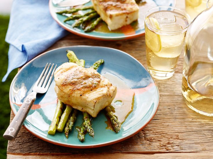 Grilled Halibut with BBQ Butter Recipe : Patrick and Gina Neely : Food Network - FoodNetwork.com