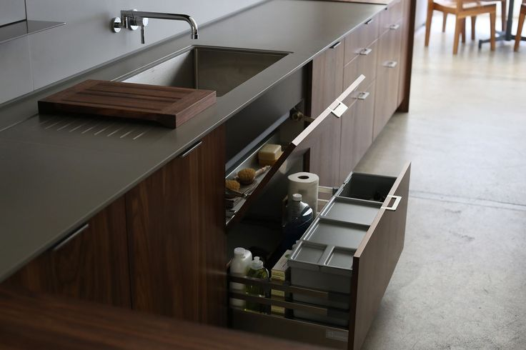 Interior Components | Additional interior components include nesting trash, storage and recycling bins, and a vented compost bin.