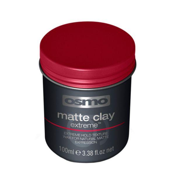 Osmo Matte clay extreme vax är den ultimata upplevelsen av torr strukturkontroll för kraftfull stadga med naturligt matt resultat.