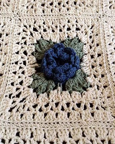 Picture of Country Rose Afghan Crochet Pattern